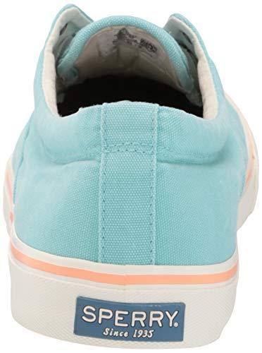 Sperry Men's Striper II CVO Kick Back Sneaker, Light Blue, 7 M US