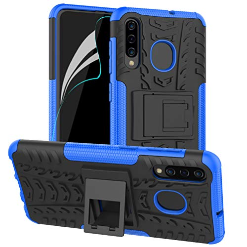 Price comparison product image Galaxy A20 Case, Galaxy A30 Case, Galaxy A50 Case with Screen Protector, Heavy Duty Protective Case Dual Layer Hybrid Shockproof Protective Case kickstand Case for Samsung Galaxy A20 / A30 / A50 Blue