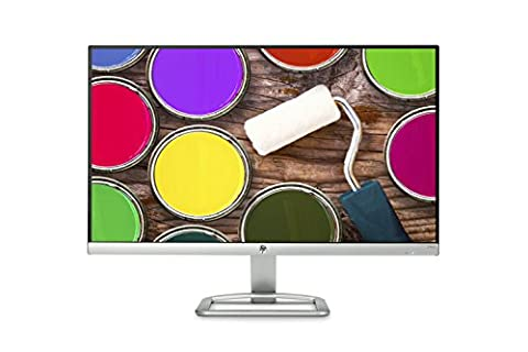 HP 23-inch FHD Monitor with Built-in Audio (24ea, White) (Hewlett Packard Hdmi)