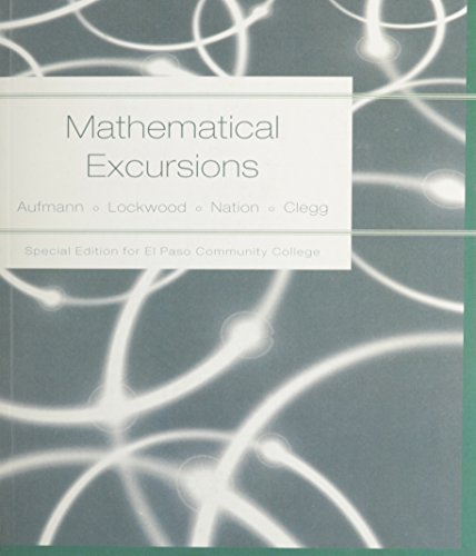 Math Excursions, Custom Publication