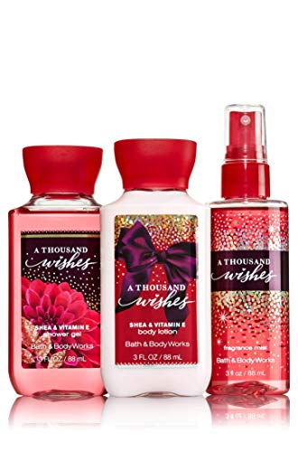 Bath & Body Works A Thousand Wishes Mini Body Set | Shower Gel, Body Lotion & Fragrance Mist