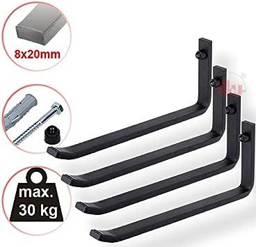 4u 4 X Xxl Reifenhalter 25 5cm 30kg 8x20mm Reifenwandhalter Wandhalterung Reifen Felgen Felgenbaum Halter Auto