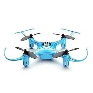 EACHINE H8S 3D Mini Cuadricóptero Drone Inverted Flight 3D Flip 360° Rolling 2.4G 4CH 6Axis One Key Return RC Nano Teledirigido Quadcopter RTF Mode 2 (Azul)