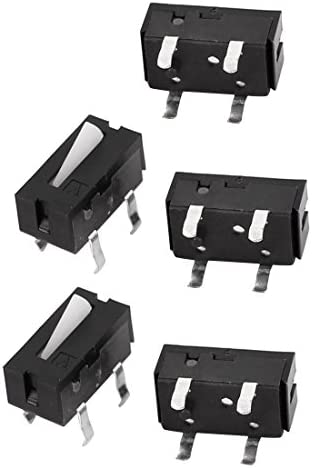 uxcell ミニタッチスイッチ 押しボタンスイッチ カメラ用 瞬間的 4端子 電子部品 5個入