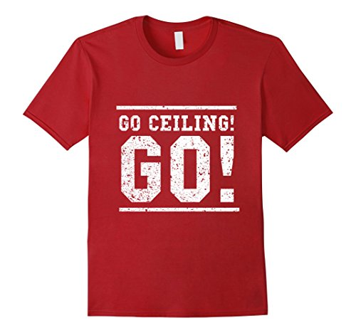 Ceiling Halloween Costumes Fan (Mens Go Ceiling Go! Funny Ceiling Fan Halloween Costume Shirt 2XL)