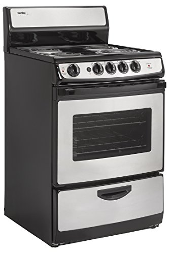 24″ Wide Electric Range with Coil Element Cooktop and 2.14 Cu. Ft. Oven with Large Window