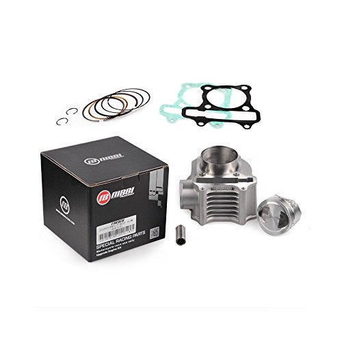 NIBBI Replacement Orginal High Performance Speed 58.5mm Cylinder Kit cylinder body piston with 15 pin gasket ring Fit GY6 Engine Scooter 125CC 150CC (Piston Body)