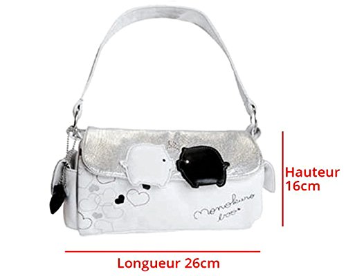 Borsa a mano design monokuro Boo–per donna–Sacchetto di sera Bianco–�?6X 16cm