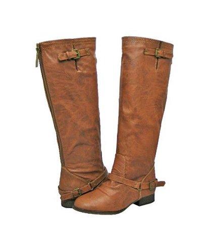 Breckelles Womens Outlaw-81 Knee Boot Premium Tan +