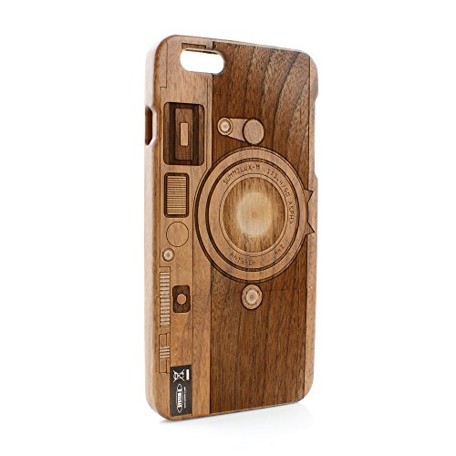 System-S Holz Wood Tasche Cover Schutzhülle Protector Case Etui für iPhone 6 Plus