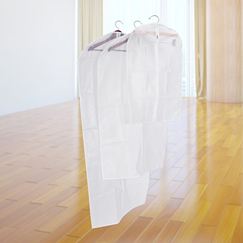 with L Dustproof Protector Bag Linens Suit Size Clothes of Pack Cover 2M 3S Bag Dresses 6 Garment 3 PwqZU7Z