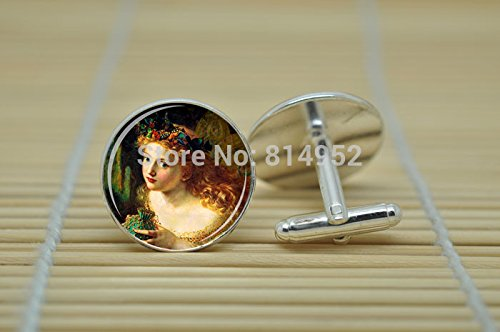 Pretty Lee Fairy Jewelry Fairy By Sophie Anderson Cufflinks In Silver Glass Cabochon Cuff Links C1496