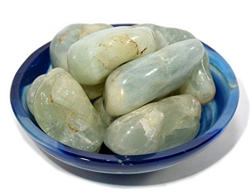 Brazil Aquamarine Blue (Natural Beryl Crystal Pebbles Blue Aquamarine/Green Emerald/Yellow Heliodor Gemstone Mineral Cabochon Cabs from Brazil - 20 PCS)
