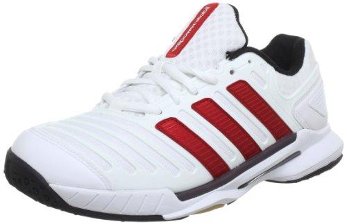 adidas adipower stabil 10.0 Synthetic - Zapatillas deportivas para interior de material sintético hombre blanco - Weiß (Running White Ftw / Light Scarlet / Black 1)