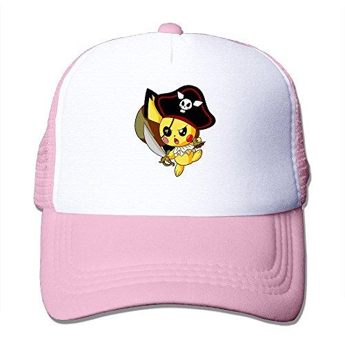 Men's Popular Cartoon Pirate Pikachu Popular MESH Hat Caps (Cartoon Pirate Hat)
