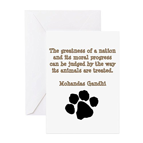 CafePress - Gandhi Animal Quote - Greeting Card (20-pack), Note Card with Blank Inside, Birthday Card Matte (Quotes Ghandi Christmas)