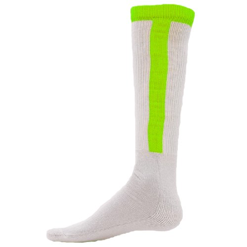 Red Lion Diamond Stirrup Baseball / Softball Tube Sock ( Neon Green - Small (Red Lion Diamond)