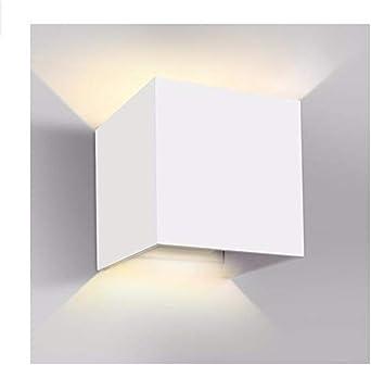 Divgdovg 12W LED Apliques De Pared,Lamparas Exterior Impermeable IP65 Lamparas para Dormitorios,Salon,jardín Pasillo Camino Porche brillante Blanco 12W blanco cálido: Amazon.es: Iluminación