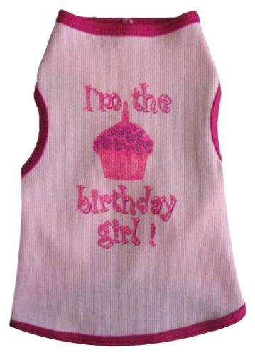 Tank Girl Dog Birthday (I See Spot's Dog Pet Cotton T-Shirt Tank, Birthday Girl, XX-Large, Pink)