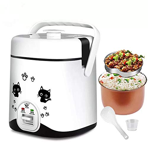 1.2L Mini Rice Cooker, Electric Travel Rice Cooker Small, Electric Lunch Box - Keep Warm Function- Suitable For 1-2 People - For Cooking Soup, Rice, Stews, Grains & Oatmeal (Hello Kitty Rice Cooker)