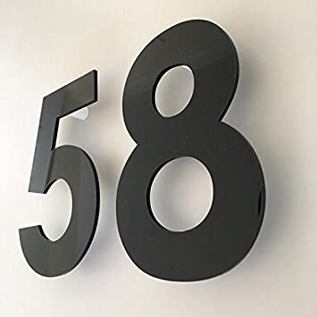 Servewell White Gloss Floating Finish House Numbers 10 cm Century Gothic