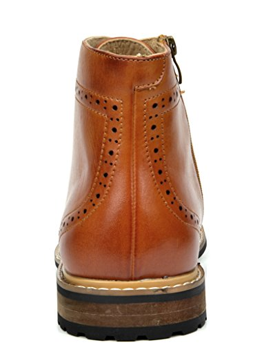 Bruno Marc Mens Bergen Leather Lined Oxfords/Chelsea Dress Ankle Boots Brown 1EEKD8