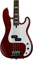 Lakland Skyline Series 44-64 Custom 4-Strings Bass Guitar, Candy Apple Red