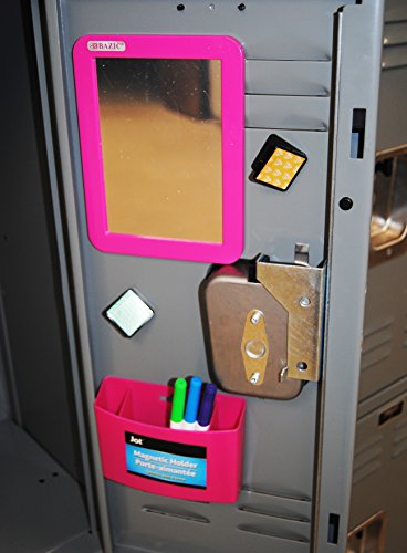 Fashion Magnetic Locker Mirror and Pencil Organizer (Pink) by School Shop (Image #1)