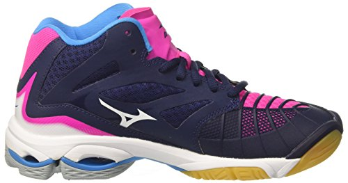 Wave Pinkglo White Mehrfarbig Mid Volleyballschuhe W Peacoat Z3 Mizuno Damen Lightning vqnw0x5z