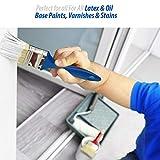Katzco 10 Pack - Polyester Bristle Paint Brush