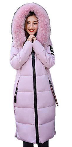 Piumino Con Anteriori Invernali Pelliccia Outwear Con Colore Manica Tasche Con Windbreaker Grün collo cappuccio cerniera Screenes Puro Donna Lunga Giacca Caldo 10UqFq