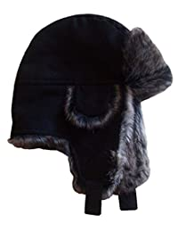 N'Ice Caps Boys and Baby Micro Fiber Trooper Hat with Faux Fox Fur