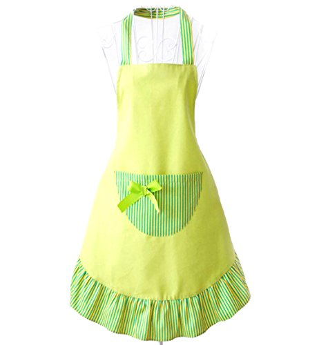 - Hyzrz Hot Lovely Funny Aprons Green Girls Women Cupcake Shop Fashion Apron with Pocket
