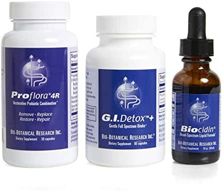 Bio-Botanical Research Bioclear Cleansing Program with Biocidin Liquid, Complete Broad-Spectrum Nutritional Support