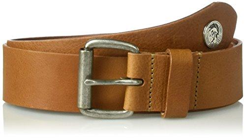 Diesel Men's Shoot Ii Leather Belt, mocha bisque, - Bisque 75