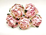 10 pcs. White Pink Peony Ranunculus Mulberry Paper