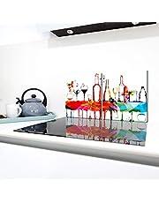 QTA | fornuisafdekplaten 2 x 40 x 52 cm keramische kookplaat afdekking bescherming kookplaat 80 x 52 2-delig glas spatbescherming afdekplaat glasplaat fornuis keramische veld afdekking snijplank wijn