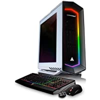 CybertronPC CybertronPC Celestrium GXH7301R Gaming Desktop Computer, AMD Ryzen 7 1800X 3.6GHz, 32GB RAM, NVIDIA GeForce GTX 1080 Ti, 250GB SSD + 3TB HDD, Windows 10 - White RGB