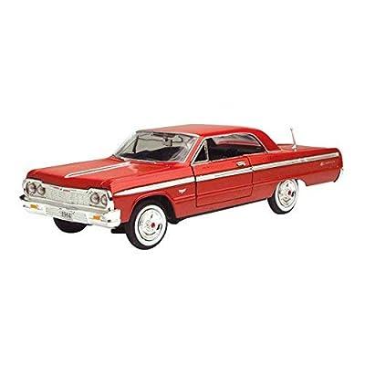 Motormax 73259 1964 Chevrolet Impala Red 1/24 Diecast Model Car: Toys & Games