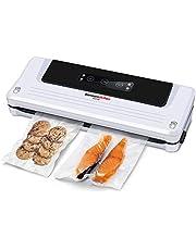 Bonsenkitchen Envasadora al Vacío Domesticas, Maquina Envasar al Vacio de Alimentos para la Cocina Sous Vide | Modos Seco y Húmedo| Bolsa de Vacío Incluida, Selladora Blanco VS3750