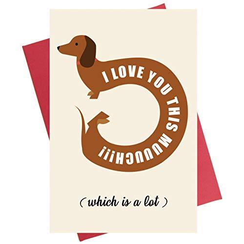 - Funny Dachshund Anniversary Card, Valentine's Day Card, Sausage Dog Valentines Day Card, Cute Card