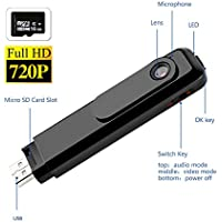 Prunend Video Voice Recorder/720P HD Camera/meeting record pen video pen Body/USB Ports(Included 16G TF Card)