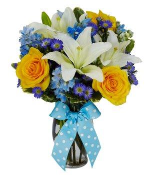Amazoncom Flowers Baby Boy Bouquet Fresh Cut Format Mixed