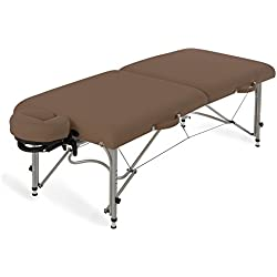 EARTHLITE Aluminum Massage Table Package LUNA - Lightweight, Foldable Frame incl. Face Cradle & Carry Case (29lb)