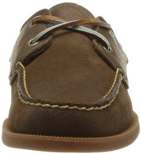 Timberland Earthkeepers Heritage Boat 2 Eye - Zapatos de cuero para hombre marrón - Dark Brown