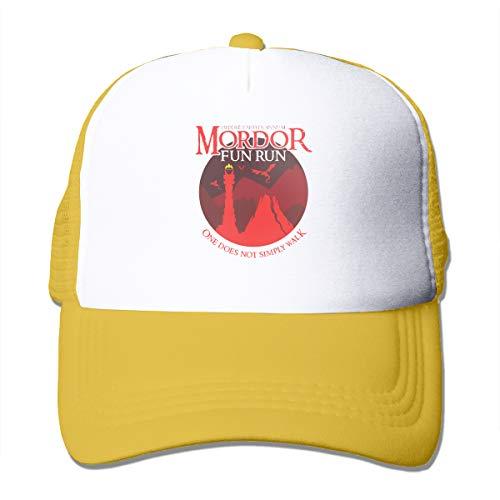 Junxiwf One Does Not Simply Walk Novelty Unisex Adult Trucker Hat Mesh Cap Yellow from Junxiwf