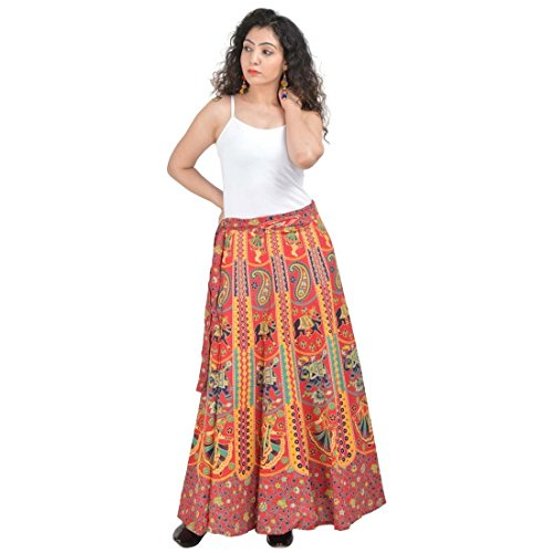 Indian Handicrfats Export Women's Cotton Wraparound Skirt