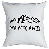 Kissen mit Füllung für Bergsportfans - DER BERG RUFT! Wandern, Klettern,...