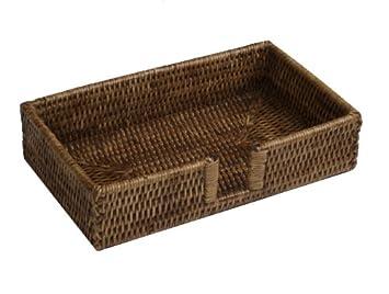 Korb Für Gästehandtücher caspari hg01 halter für gästetuch servietten rattan und korb braun