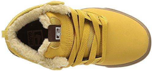 GlobeMotley Mid - zapatillas de skateboard niños Amarillo - Jaune (16240)